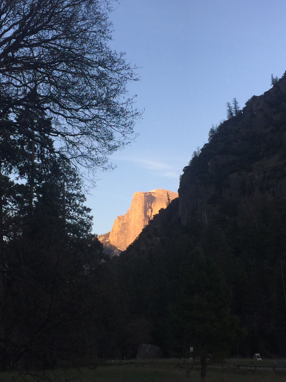 Yosemite Half Dome Sunset